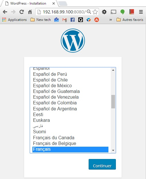 wordpress accueil